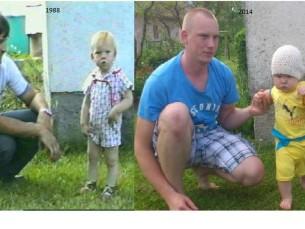 1988 a koos isaga ja 2014 koos pojaga