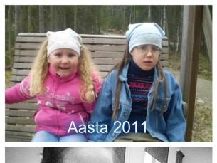 Pildil õed aastal 2011 ja aastal 2017