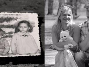 1974 ja 2014, 40 aastat hiljem õed ja vend alati koos.