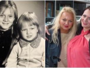 Ekaterina õega aastal 1989 vs 2013