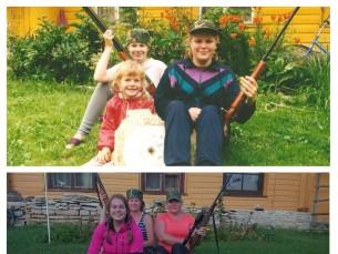 Kolm õde aastal 1996 ja 2016