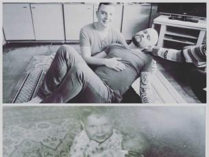 Aasta 1991 ja 2017. Vennaga, samas kohas vanaema juures.