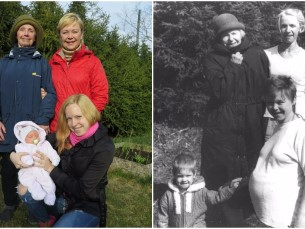 Reinu pere neli põlve naisi aastal 1992 vs 2017