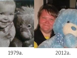 Mina kaisuloomaga aastal 1979 ja 2012.