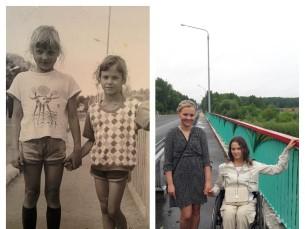 Sama koht 25 a hiljem. Mina ja õde.