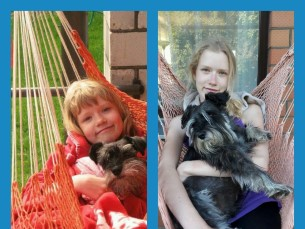 Hanna ja snautser Kräpi 10 aastase vahega.