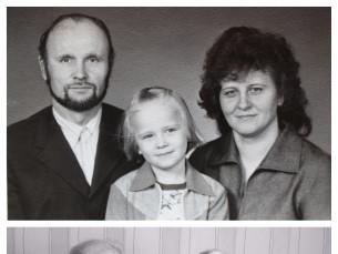 1977 vs 2017 - ema ja isa oma tütrekesega