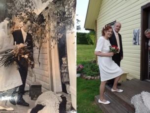 Mina onu pulmas aastal 1965 ja kuldpulmas aastal 2015