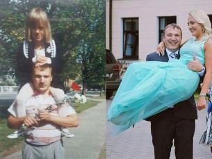 Isaga esimesel koolipäeval ja isaga viimasel koolipäeval 😊
