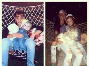 Minu tütred aastal 1998 ja 2015