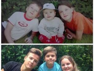 Mina, väike vend ja õde. 2006 ja 2016
