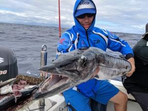 Tegu Barracudaga, kel kaalu 14kg. Püüdsime Kariibidel Guadeloupe saare lähistel söödakalu..  Söödakaladeks olid kuldsed tuunid, mille veest välja sikutamine oli omaette elamus.. olgugi, et neil oli kaalu vaid 1-2kg ringis. 50m sügavuselt järjekordset tuuni üles kerides.. kargas otsa selline koll.. lõbu oli omajagu.. :)