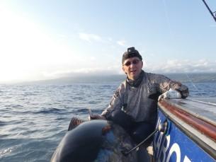 Kena sünnipäevakink. Bigeye tuna - 140 kg, 192 cm. 1 tund ja 50 minutit võitlust, hiljem GPS andur selga ning peaks praeguseks kuskil ookeanis edasi uitama. Söödaks kalmaari imitatsioon. Aeg - 27.09.19  Koht - Assoorid, Ponta Delgada