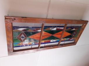 Vana aknaraam + vitraaž = laelamp