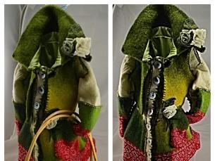 Vilditud ja vanutud lõngast (heidest) mantel
