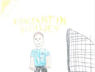 Joonistaja 8. aastane. Pildil Konstantin Vassiljev
