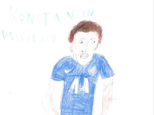 Joonistaja 8. aastane; pildil Konstantin Vassiljev