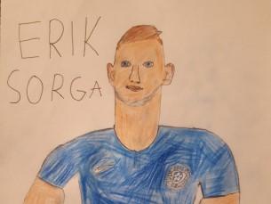 Pildid on Eesti jalgpallikoondise ründaja Erik Sorga.