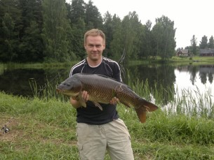 Karp. 10.8 kg. Püütud Veriora järvest. Põhja söödaga.