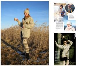 Kootud püksid, kampsun ja müts - kõik on saanud inspiratsiooni Käsitööst. Karupüksid on valminud Käsitöö 2014/2015. aasta ja kampsun 2012. aasta talvenumbrites ilmunud õpetuste järgi.