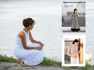 Käsitöö 2014. aasta suvenumbris ilmusid Haapsalu salli teemadel kleidid ja pluusid. Minu kleit neist inspiratsiooni ning mul valmis puuvillasest niidist ja Haapsalu salli kirjadega oma kleit.