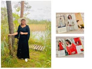 Minu kleit valmis juba 2008. aastal, inspirtasiooni sain ikka Käsitöö ajakirjast. Mudeli autor on Maaja Kalle.