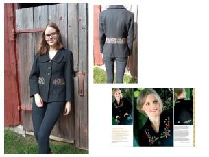 Minu must jakk on saanud eeskuju Käsitöö 2007. aasta sügisnumbrist. Jätsin taskud ära ja kasutasin vöö kohal Halliste tikandi motiive. Jakk sai kohe varsti peale ajakirja ilmumist tehtud ja on mind kõik need aastad truult teeninud.