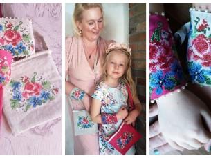 Ristpistetikandiga kotid ja kätised emale ja tütrele