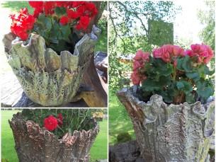 SAUNALINAD LILLEPOTTIDEKS. Meie pere vanadest saunalinadest ja heegeldatud linikutest valmivad lillepotiümbrised